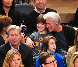 Richard Gere and his son having a ball