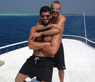 George Michael on holiday with new boyfriend