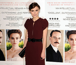 Keira Knightley practised her facial ticks on skype
