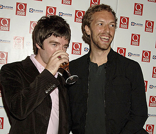 Noel Gallagher and Chris Martin to collaborate at Brits