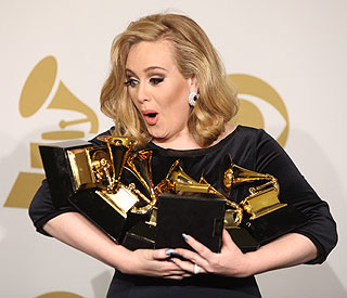 Six-time winner Adele strikes gold at the Grammys