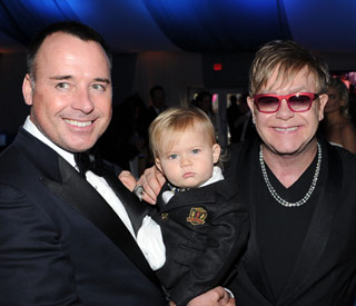Elton John's cute baby steals the show
