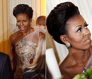 Michelle Obama on sparkling form at Governors' Dinner