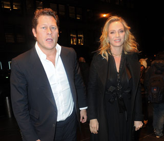 Uma Thurman pregnant for the third time