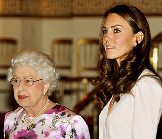 Kate and the Queen on girls only engagement