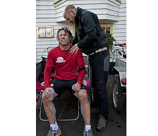 John Bishop completes gruelling charity challenge