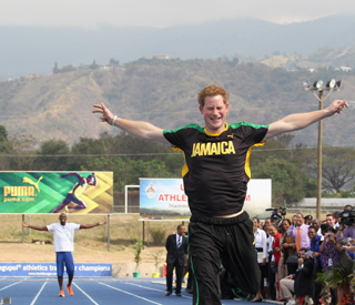 Prince Harry beats Usain Bolt in shock result