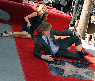 Felicity and William get double Hollywood star