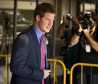 Prince Harry arrives in Brazil for three-day visit