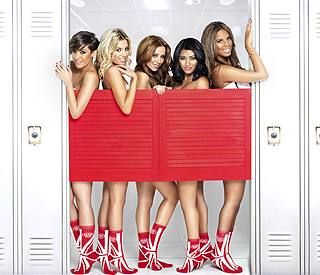 The Saturdays show off their socks appeal