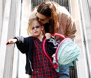 Jennifer Garner's girl is a mini-me on post baby outing