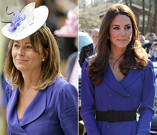 Duchess steals mum Carole's style for public address