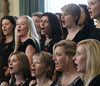 The Military Wives Choir march to top of album chart