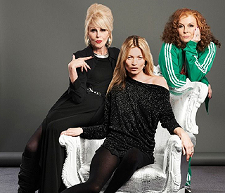 Kate Moss gets on 'Fabulously' with Joanna Lumley