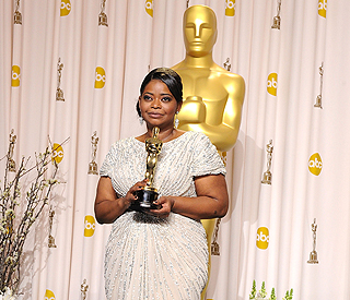Oscar winner Octavia honoured in hometown