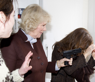 Camilla shoots Princess Mary on the set of 'The Killing'