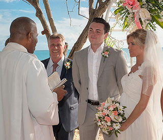 Beach wedding in Barbados for West End stars