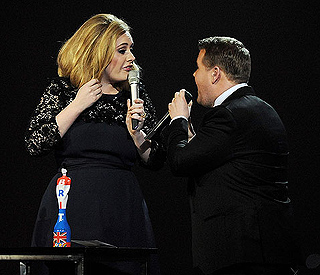James Corden says Adele is still a friend after Brits