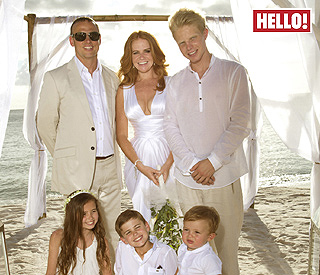 Patsy Palmer renews her vows in the Caribbean