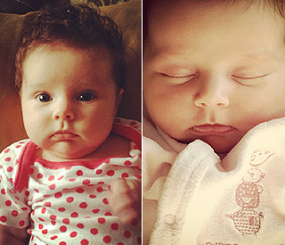 Una Healy shows off baby Aoife Belle on Twitter