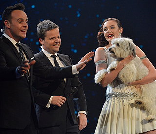 Simon Cowell impressed by furry performer