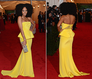 Solange wows in canary yellow gown at Met Ball