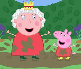 The Queen's audience with Peppa Pig