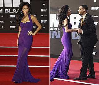 Nicole hits the red carpet in stunning purple gown