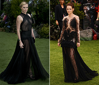 Kristen and Charlize go gothic for 'Snow White'