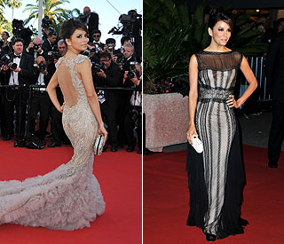 Eva Longoria's quick change at Cannes