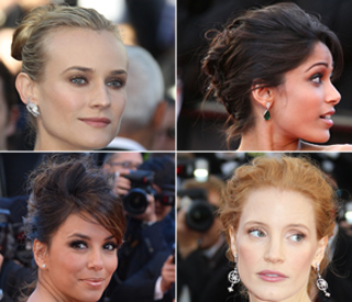 Pretty updos and nude lips reign so far at Cannes