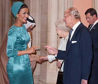 Prince Philip delighted to see Sheika Mozah