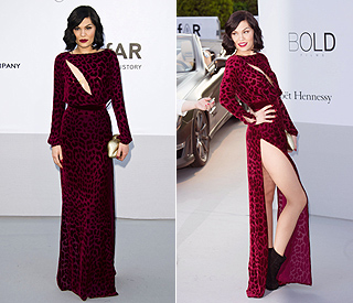 Jessie J wows in revealing gown at Cannes
