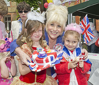 Barbara brings Jubilee cheer to East End street party