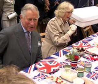 Prince Charles and Camilla get the Big Lunch started