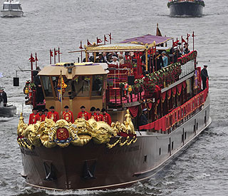 Royal Barge stripped down following Jubilee