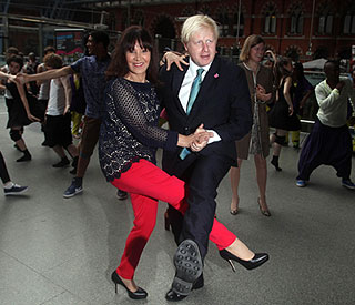 Boris Johnson shakes a leg with Strictly's Arlene