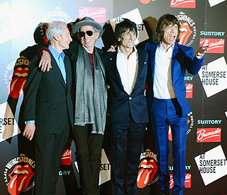 Rolling Stones spend the night together for 50th