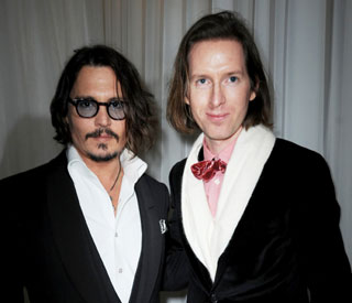 Johnny Depp checks into Wes Anderson's hotel