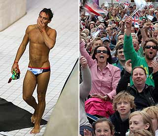 'Role model' Tom Daley is a hit with fans