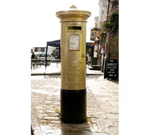 Post boxes to get Olympic gold makeover
