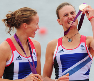 Olympic rower Helen Glover slept with gold medal