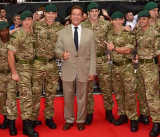 Arnold Schwarzenegger 'very happy' to be back