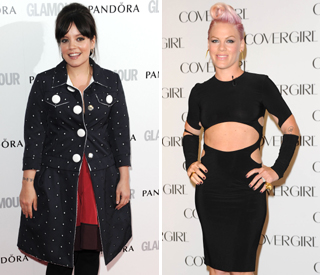 Pregnant Lily Allen joins Pink for surprise gig