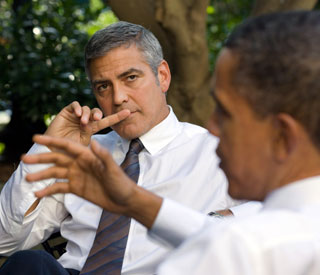 Obama backers pay $15,000 to dine with George