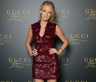 Blake looks lively at Gucci fragrance party