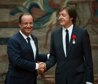 Sir Paul McCartney awarded top French honour