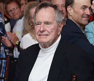 George Bush Sr in intensive care unit