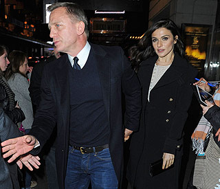 Daniel Craig and wife Rachel enjoy date at the theatre