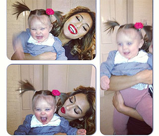 The Saturdays'  Vanessa shares laughs with Aiofe Belle
